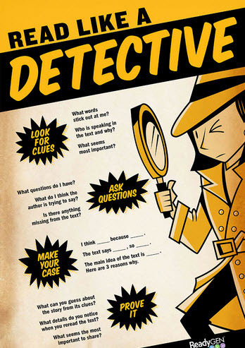 Read Like A Detective - Infographic (Student Version) | Intriguing Connections | Scoop.it