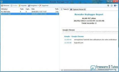 Revealer Keylogger Free : un logiciel pour surveiller tout ce qui est tapé sur le clavier de votre PC   Geeks   Scoop.it