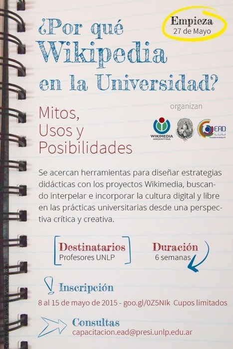 Curso: ¿Por qué Wikipedia en la Universidad? | Educación y TIC | Bibliotecas y Educación Superior | Scoop.it
