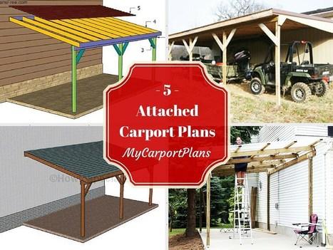 5 Free Attached Carport Plans | Carport plans | Scoop.it