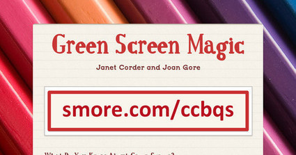 Green Screen Magic | iPads, MakerEd and More  in Education | Scoop.it
