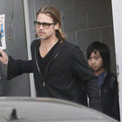 Brad Pitt at Guitar Center in LA With Maddox Pictures | Around the Music world | Scoop.it