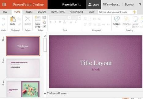 Pink Floral PowerPoint Template   Free Microsoft Word Templates   Scoop.it