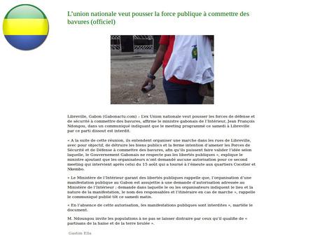 Gabon: la désinformation au service du dictateur Ali Bongo | Actualités Afrique | Scoop.it