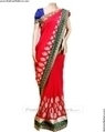Pink georgette :: Saree :: fashionflutters.com | for home | Scoop.it