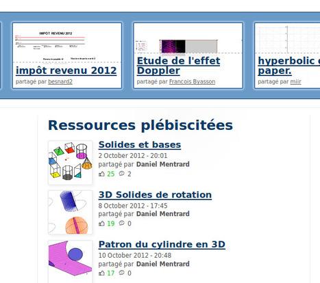 GeoGebraTube : près de 40 000 ressources libres et interactives pour GeoGebra | Ressources informatique et classe | Scoop.it