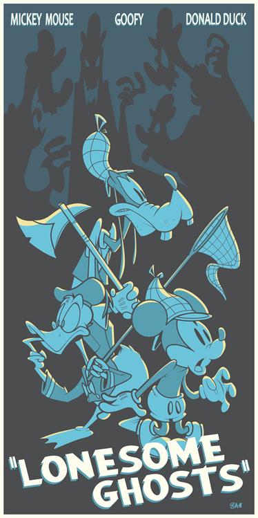 Cool Art for Disney's LONESOME GHOSTS HorrorCartoon - News - GeekTyrant | Communication Art | Scoop.it
