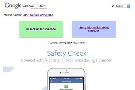 Google and Facebook help you connect with people in areas hit by the Nepal earthquake | Peer2Politics | Scoop.it