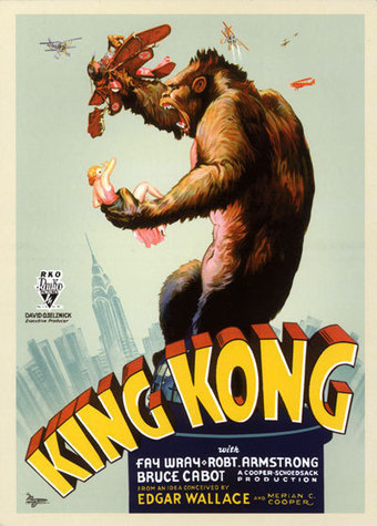 Primary Document #1 King Kong Release Poster | Cinema of the 1930s | Scoop.it