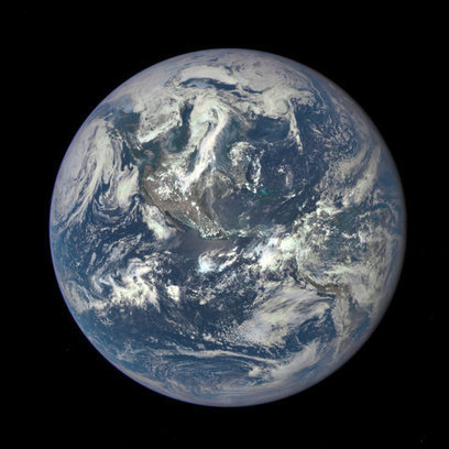 From a Million Miles Away, a New NASA 'Blue Marble' View of Earth | Sustainable Futures | Scoop.it