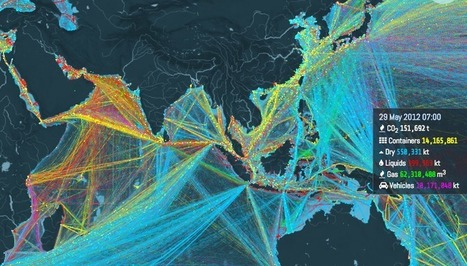 This is an incredible visualization of the world's shipping routes | Humanidades digitales | Scoop.it