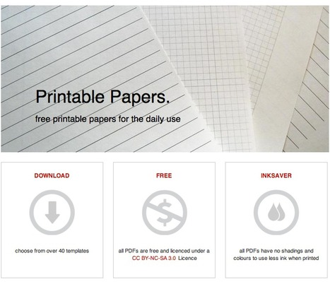 Choose from over 40 templates —  free printable papers for the daily use   E-Learning Methodology   Scoop.it
