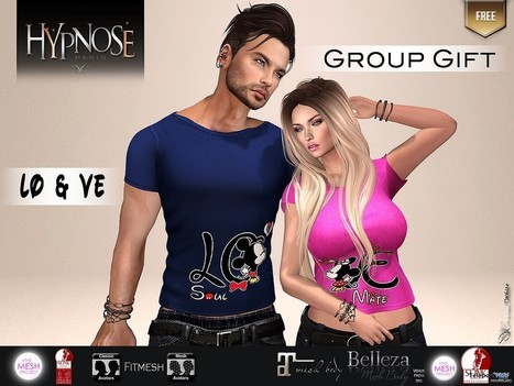 Love Soulmate Pair Shirts For Men and Women Group Gift by HYPNOSE | Teleport Hub - Second Life Freebies | Second Life Freebies | Scoop.it