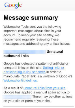 What to Do About Unnatural Links Message in Webmaster Tools | Real SEO | Scoop.it