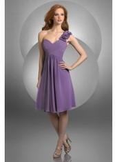 Sheath Column One Shoulder Knee Length Purple Bridesmaid Dress Bbbj0055 for $226 | 2014 landybridal wedding party dresses | Scoop.it