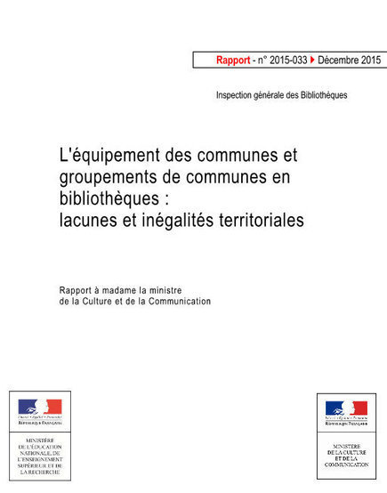 L'équipement des communes et groupements de communes en bibliothèques : lacunes et inégalités territoriales | Culture | Scoop.it