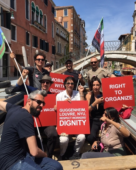Gulf Labor and Other Arts Groups Occupy Venice's Guggenheim #GuggOccupied | Activism, Protest, Citizen Movements, Social Justice | Scoop.it
