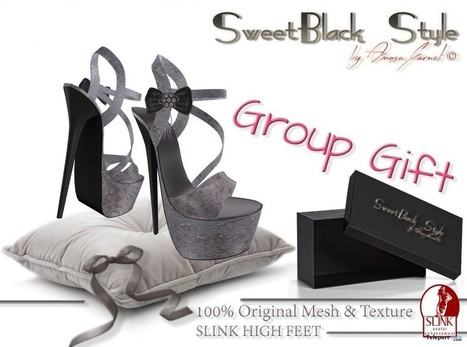 Elegant Shoes For Slink High Feet Group Gift by SweetBlack | Teleport Hub - Second Life Freebies | Second Life Freebies | Scoop.it