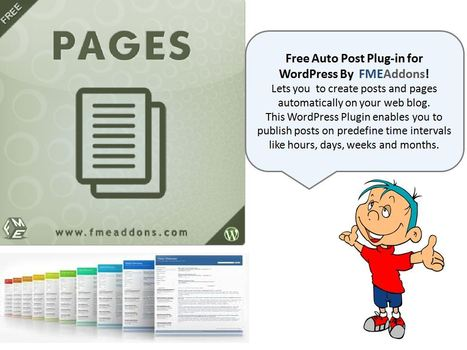 Free WordPress Auto Pages Plug-in developed by FME | FMEAddons | Scoop.it