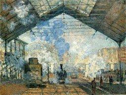 Claude Monet, La gare Saint-Lazare, 1877 - L'Elephant la revue | L'éléphant - La revue | Scoop.it