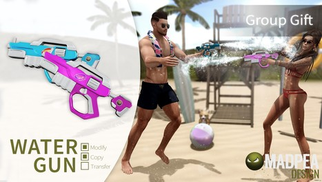 Water Guns Group Gift by Madpea | Teleport Hub - Second Life Freebies | Second Life Freebies | Scoop.it