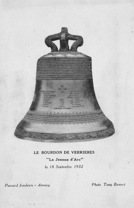 La cloche Jeanne d'Arc de l'église de Verrières-en-Forez (Loire) : un monument caché pour les morts de la Première Guerre mondiale | tourisme historique | Scoop.it