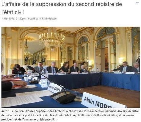Le second registre (par la FFG) | CGMA Généalogie | Scoop.it