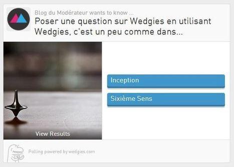 Créer un sondage pour son site Internet ou les réseaux sociaux avec Wedgies | Pédagogie et web 2.0 | Scoop.it