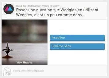 Créer un sondage pour son site Internet ou les réseaux sociaux avec Wedgies | TIC et TICE mais... en français | Scoop.it