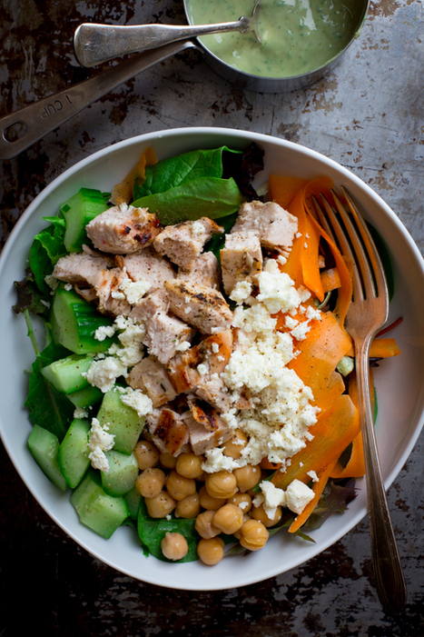 chicken and chickpea green goddess power salad | The Man With The Golden Tongs Goes All Out On Health | Scoop.it