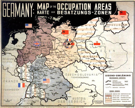 Occupation Areas of Germany after 1945 Map - Germany • mappery | The Reader | Scoop.it