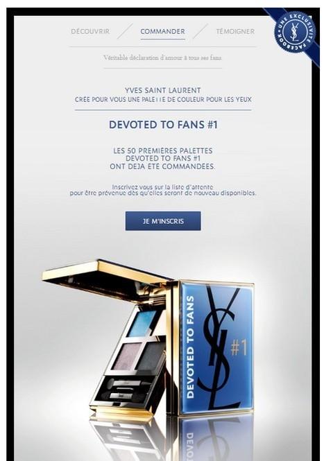 Yves Saint Laurent crée une palette pour ses fans | CRM in luxury industry | Scoop.it