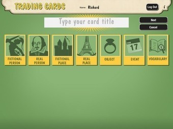 Create Trading Cards for Historical and Fictional People, Places, and Events | iPad classroom | Scoop.it