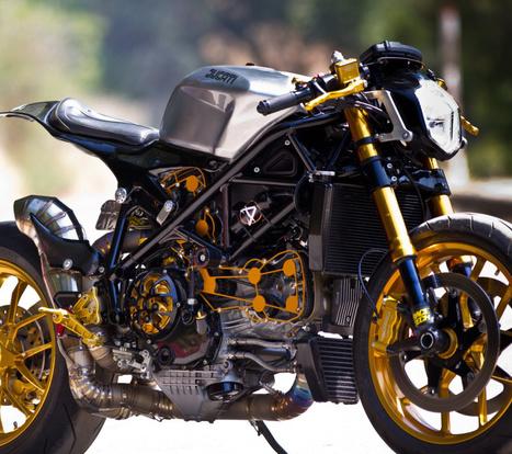 Custom Streetfighter Ducati 1098 Cafe Racer (28 HQ Photos) | Cafe racers | Scoop.it