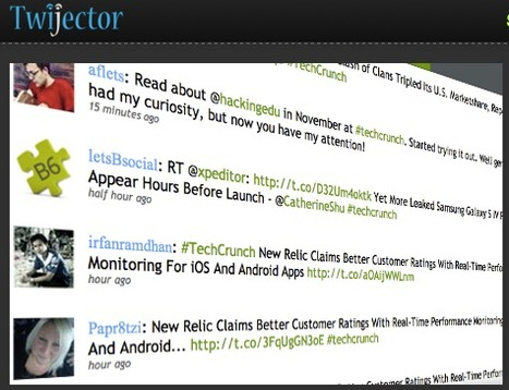 Twijector: real integration of twitter wall on conferences and classrooms | Create, Innovate & Evaluate in Higher Education | Scoop.it