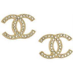 Chanel  CC Gold Stud Earrings   wedding  jewelry   Scoop.it