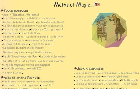 Mathématiques magiques | Applications pédagogiques web 2.0 | Scoop.it