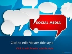 Free Social Media Discussion PPT Template | Free PPT Templates | Scoop.it