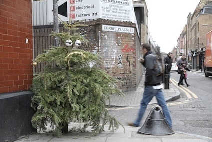 Artist Turns Discarded Christmas Trees Into Funny, Googly-Eyed Street Art - DesignTAXI.com | World of Street & Outdoor Arts | Scoop.it