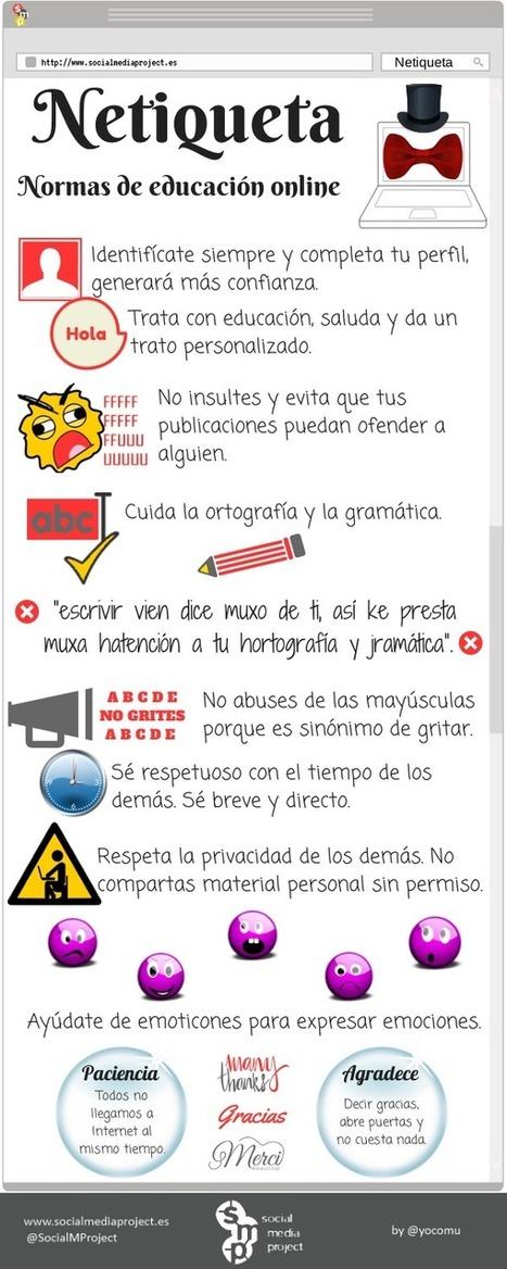 Normas de educación online #infografia #infographic #interet | TECNOLOGÍA_aal66 | Scoop.it