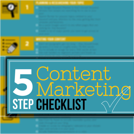 Content Marketing Checklist: 5 Steps To Successful Content | digital marketing strategy | Scoop.it