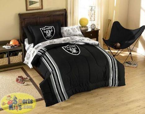 Northwest NFL Oakland Raiders Bed In a Bag | NFL Bedding Sets - Sportskids.com | Scoop.it