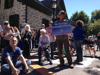 Ralph Nader, crowds and diverse views converge at Occupy Peace rally in Uptown Kingston | real utopias | Scoop.it
