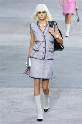 Chanel : défilé prêt-à-porter printemps-été 2014, les photos : PARIS FULL LENGTH women CHANEL RS14 0013 | Mes coups de coeur mode (si possible pour enfants) | Scoop.it
