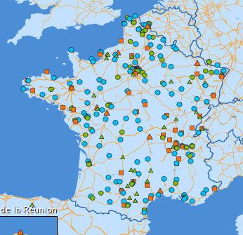 La carte des EMMAUS en France   Les cartes des Alternatives - Géographie de la transition   Scoop.it