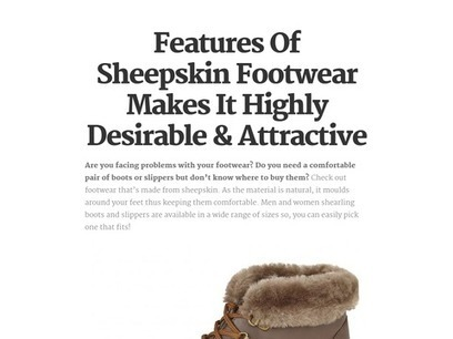 Features Of Sheepskin Footwear Makes It Highly Desirable & Attractive   Sheepskin Slippers and Boots   Scoop.it