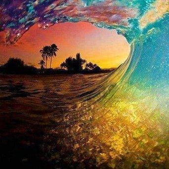Twitter / SoAmazingPics: Amazing Sunset Wave in Hawaii ... | Coast | Scoop.it
