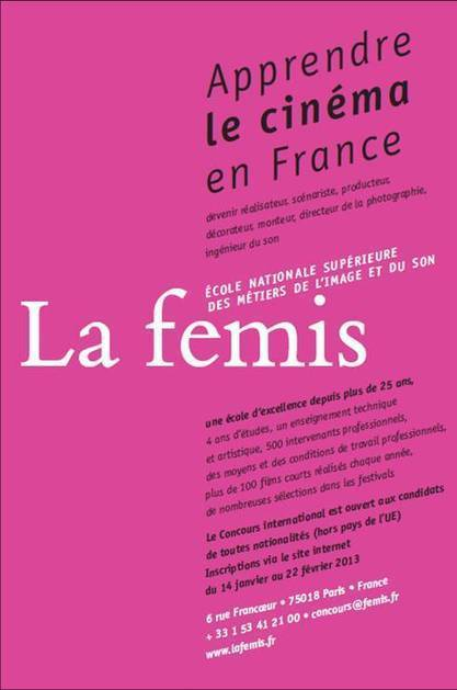 Concours international de la FEMIS  (école nationale supérieure des métiers de l'image et du son) | Égypt-actus | Scoop.it