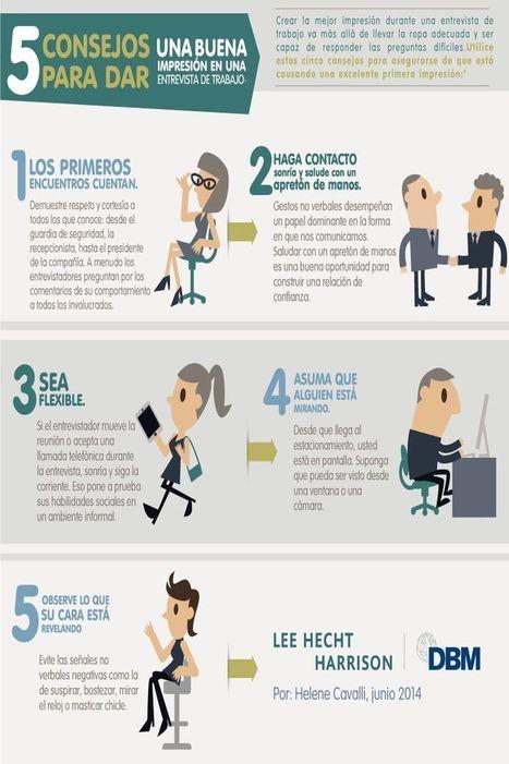 5 recomendaciones que te harán dar buena impresión en tu entrevista de trabajo | Cursos, Recursos  i Ciència | Scoop.it