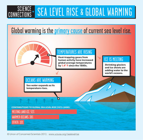Infographic: Sea Level Rise and Global Warming | UCSUSA | following geography education | Scoop.it